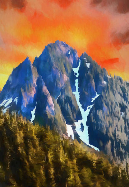 Painting - Spectacular Sunset In North Cascades by Dan Sproul