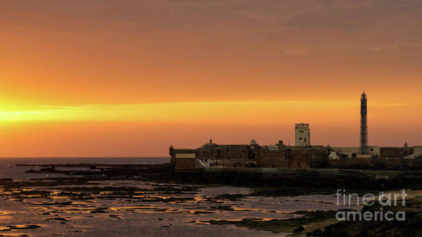 Photograph - Spectacular Sunset On Saint Sebastian Castle Cadiz Spain by Pablo Avanzini