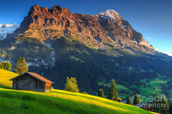 Wall Art - Photograph - Spectacular Swiss Alpine Landscape With by Gaspar Janos