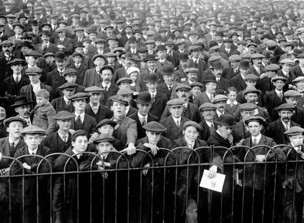 Spectator Photograph - Spectators At Football Match B&w by Hulton Archive