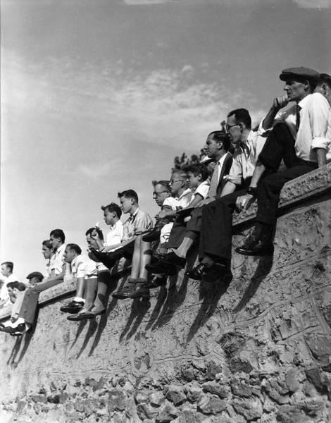Spectator Photograph - Spectators, Isham Park by The New York Historical Society