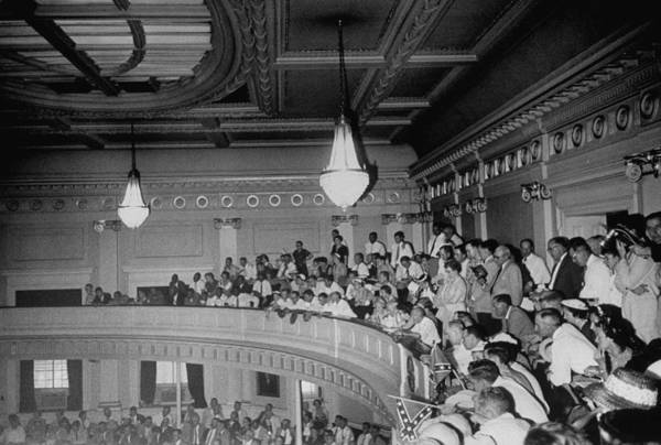 Court Photograph - Spectators Packed Into Gallery Draped W by Margaret Bourke-white