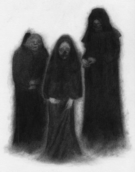 Drawing - Specters Of The Darkness Beneath - Artwork by Ryan Nieves