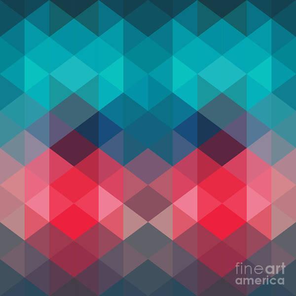 Wall Art - Digital Art - Spectrum Geometric Background Made Of by Markovka