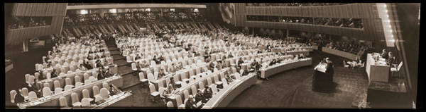 Wall Art - Photograph - Speech To The United Nations, Nyc, New by Fred Schutz Collection