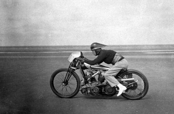 Motorcycle Racing Photograph - Speed Record by Douglas Miller