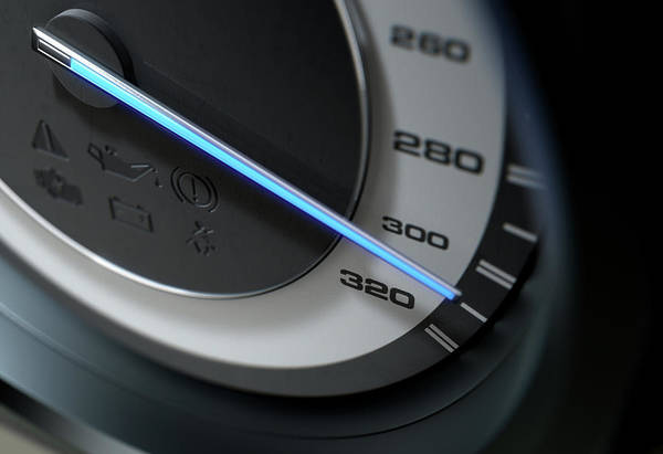 Wall Art - Digital Art - Speedometer Fast by Allan Swart