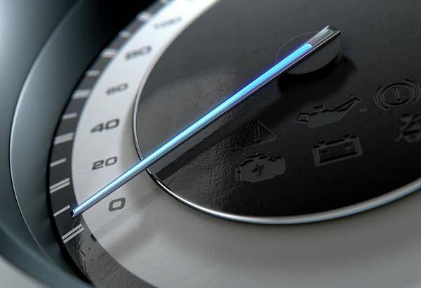 Wall Art - Digital Art - Speedometer Slow by Allan Swart