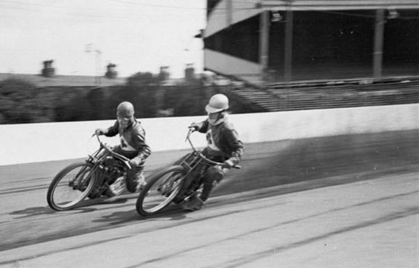 Motorcycle Racing Photograph - Speedway Ace by Bert Hardy