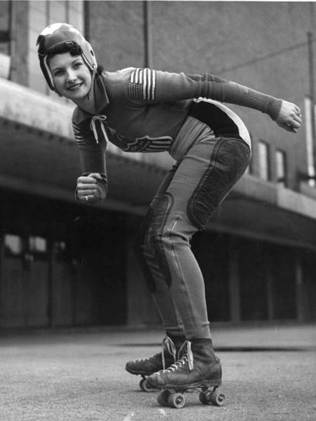 Sport Photograph - Speedway Skater by General Photographic Agency