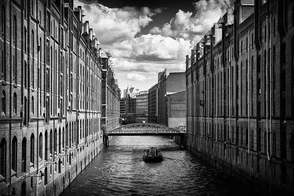 Wall Art - Photograph - Speicherstadt Hamburg Warehouse District Black And White by Matthias Hauser