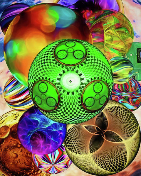 Wall Art - Digital Art - Spheres by John Haldane