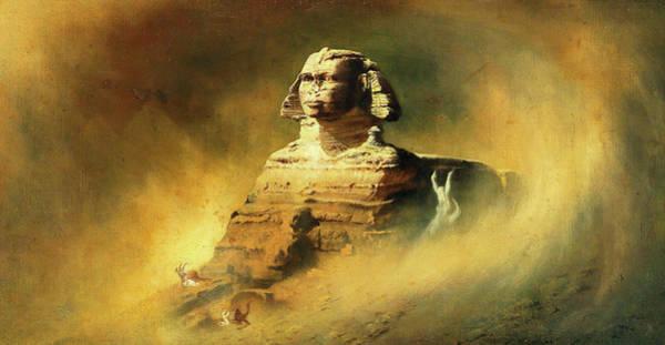 Nile Painting - Sphinx by Karl Wilhelm Diefenbach