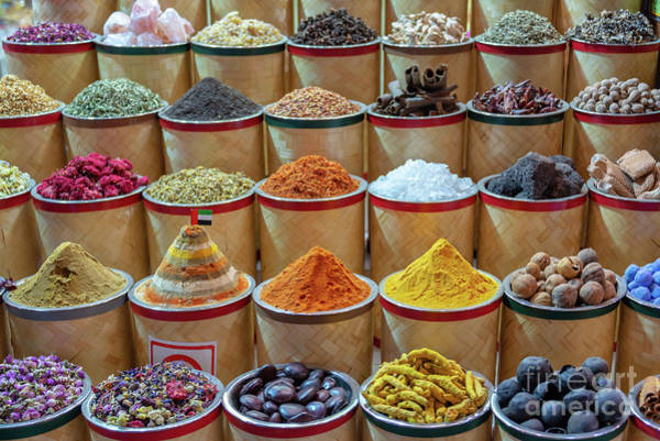 Wall Art - Photograph - Spices Market In Dubai by Delphimages Photo Creations