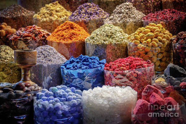 Wall Art - Photograph - Spices Souk In Dubai by Delphimages Photo Creations