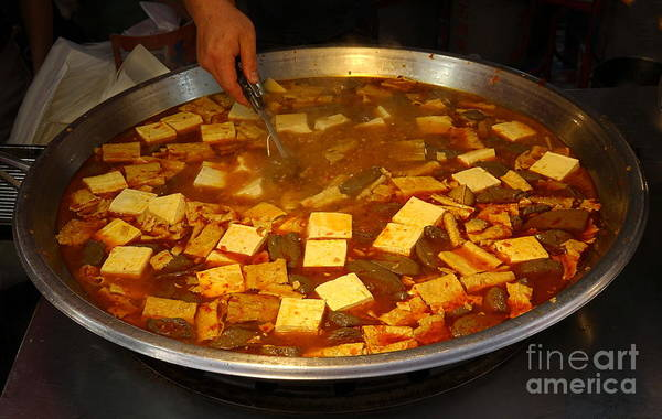 Wall Art - Photograph - Spicy Stew With Tofu And Duck Blood by Yali Shi