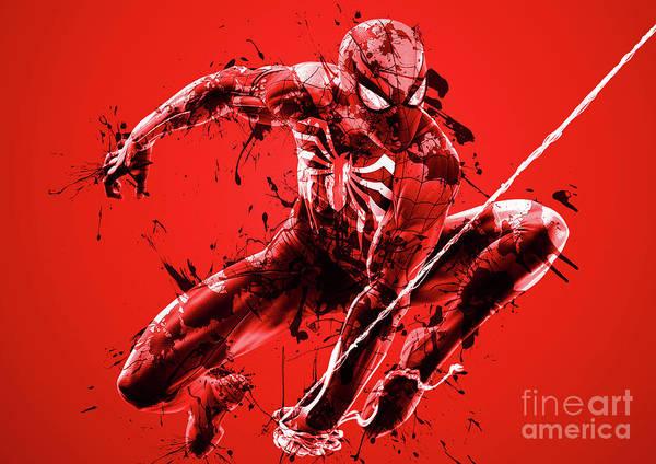 Wall Art - Digital Art - Spider Man  25 by Prar Kulasekara