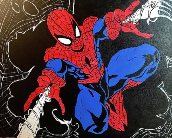 Wall Art - Painting - Spider - Man by Willy Proctor