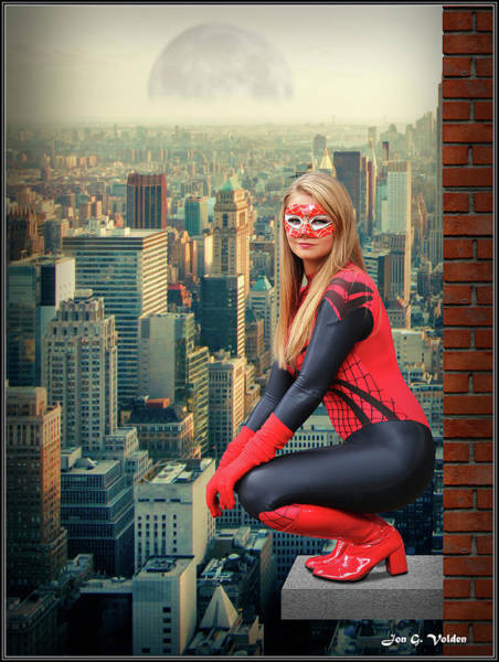 Photograph -  Spider Woman Moon Rise by Jon Volden