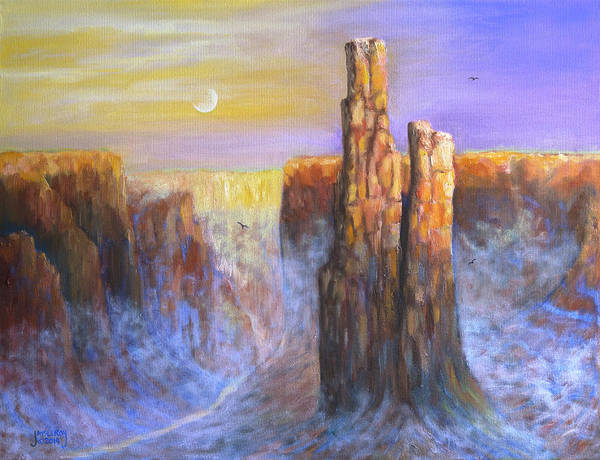 Wall Art - Painting - Spider Woman Rock by Jerry McElroy
