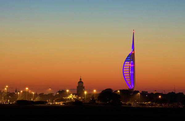 Spinnaker Photograph - Spinnaker Tower And Portsmouth Cathedral by Paul Thompson
