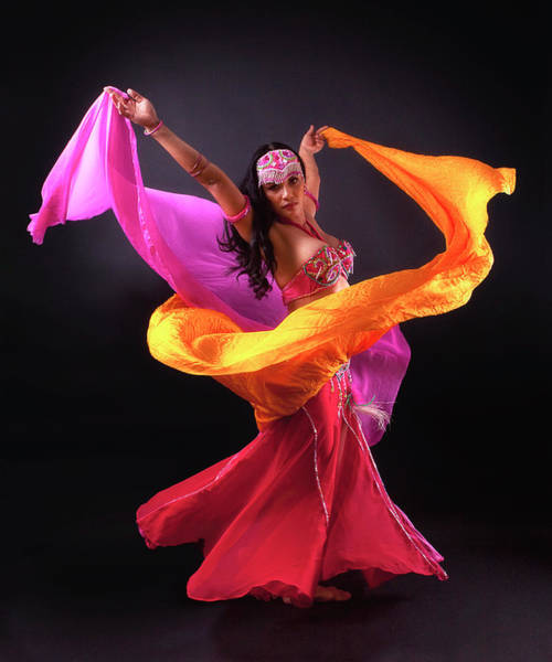 Belly Dancers Photograph - Spinning Bellydancer by Karen Ilagan