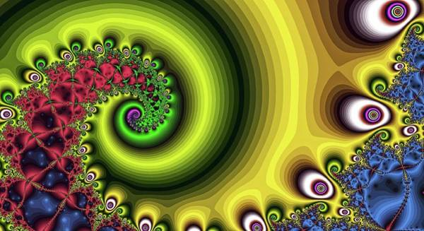 Digital Art - Spiral Into The Zone Gold by Don Northup