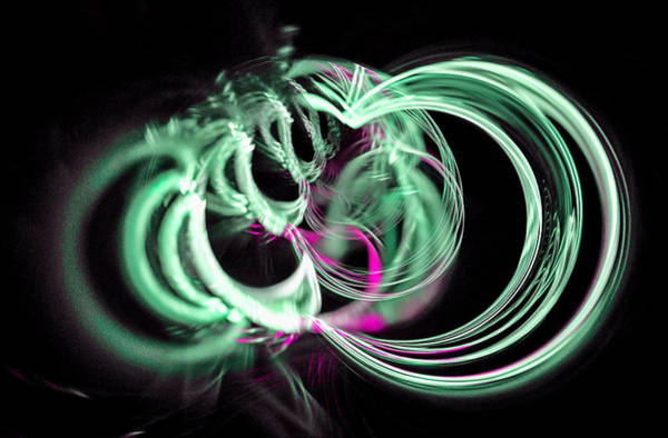 Digital Art - Spiral Mob Green by Don Northup