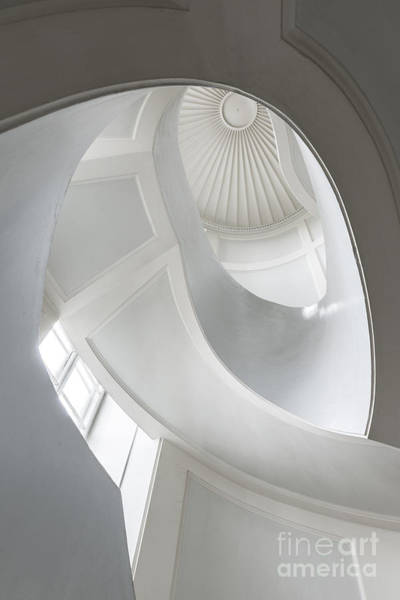 Circular Wall Art - Photograph - Spiral Modernist Staircase In Warsaw by Cinematographer