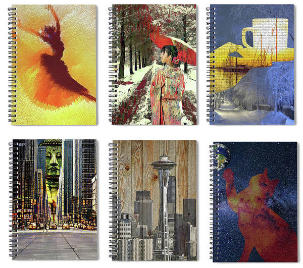 Digital Art - Spiral Notebooks Samples by Alex Mir