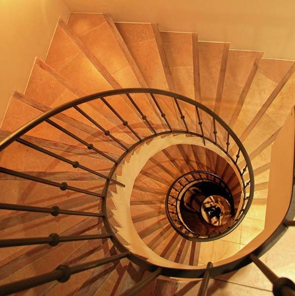 French Riviera Photograph - Spiral Staircase by Charles Briscoe-knight