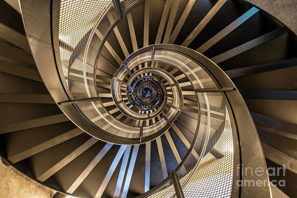 Wall Art - Photograph - Spiral Staircase In Tower - Interior by Simon Dannhauer