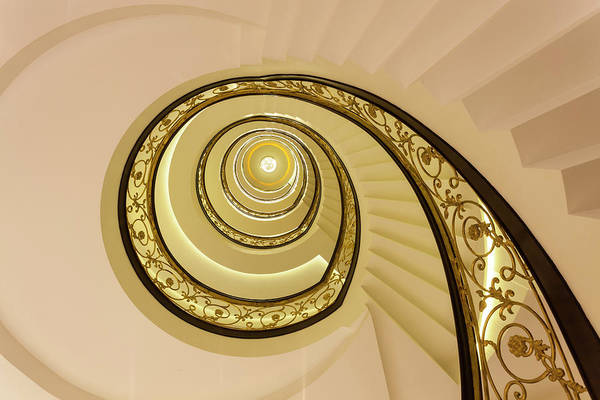 Journey Photograph - Spiral Staircase, India by Peter Adams