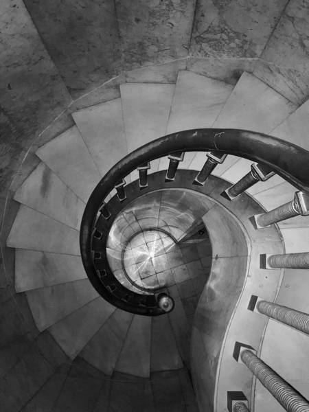 Photograph - Spiral Staircase, Lakewood  Cemetary Chapel by Sarah Lilja