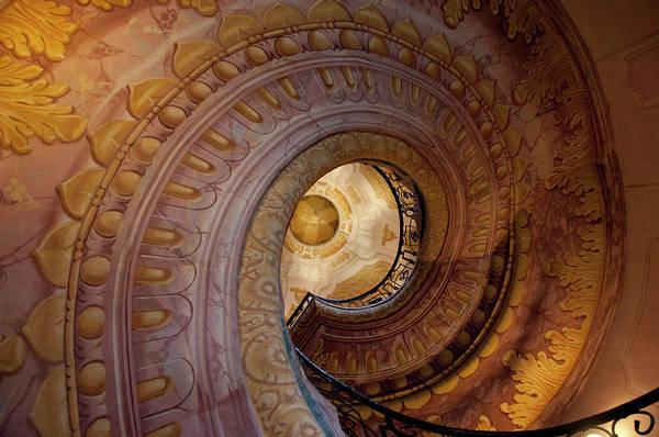 Oculus Wall Art - Photograph - Spiral Staircase, Melk Abbey, Melk by Danita Delimont