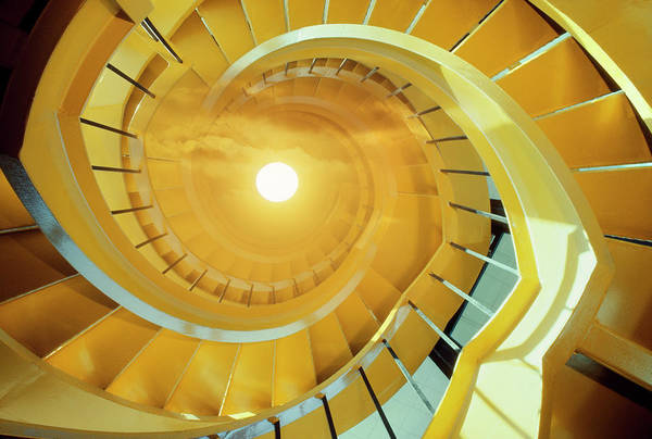 Wall Art - Photograph - Spiral Staircase Steps Leading To Sky by Harald Sund