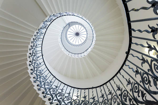 Queen Photograph - Spiral Staircase, The Queens House by Peter Adams