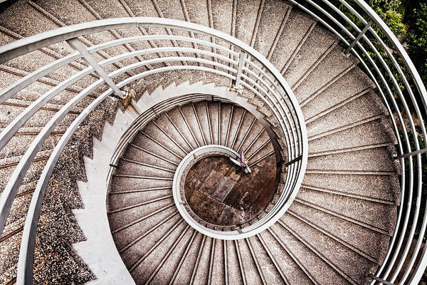 Above And Below Wall Art - Photograph - Spiral Staircase by Tomml