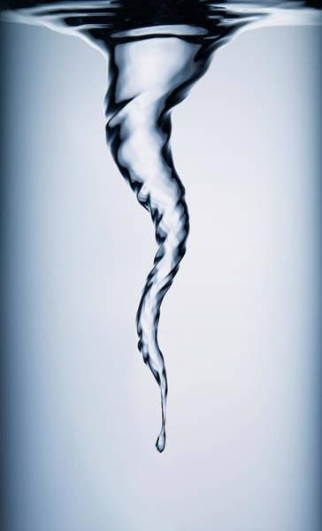 Physics Photograph - Spiral Vortex In Water by Biwa Studio