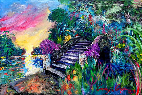 Painting - Spirit Bridge Two by Amzie Adams