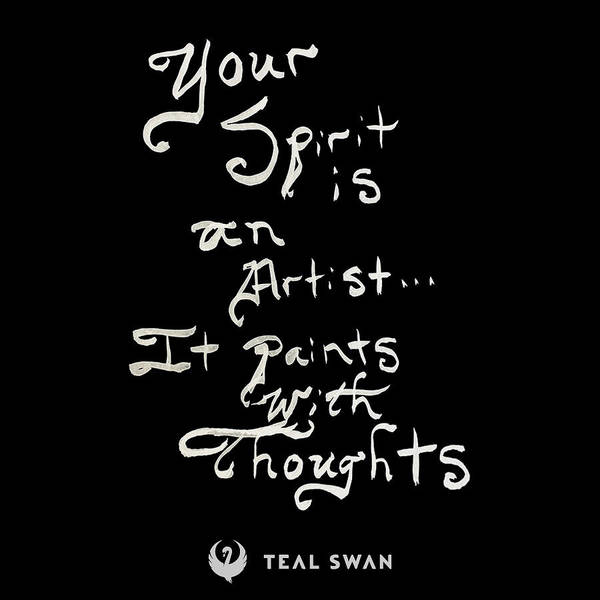Painting - Spirit Is An Artist Quote by Teal Eye Print Store