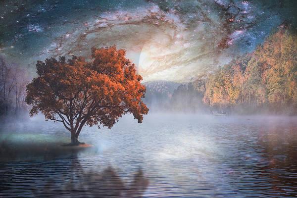 Planets And Moons Digital Art - Spirit Lake II by Debra and Dave Vanderlaan