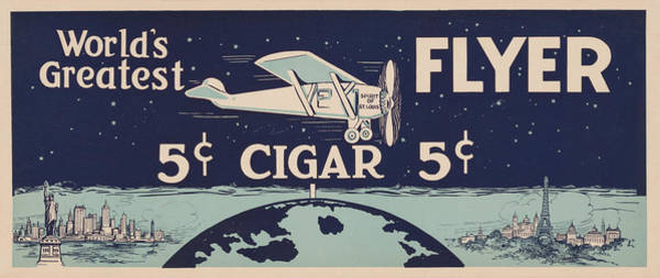 Wall Art - Painting - Spirit Of St Louis - Vintage Cigar Advertisement by War Is Hell Store