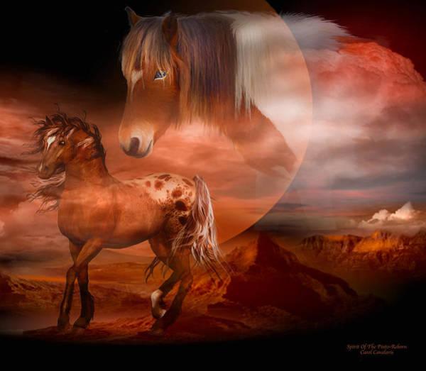 Reborn Wall Art - Mixed Media - Spirit Of The Pinto - Reborn by Carol Cavalaris