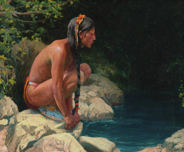Pueblo Painting - Spirit Of The Pool by Eanger Irving Couse