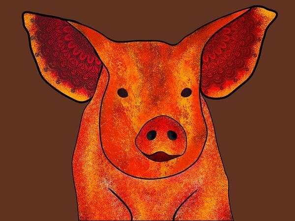 Hidden Treasures Digital Art - Spirit Pig by Deborah Abdulla