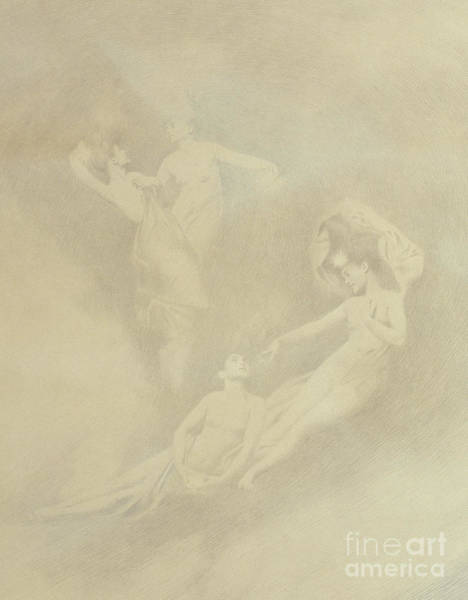 Wall Art - Drawing - Spirits In The Mist  by Charles Prosper Sainton