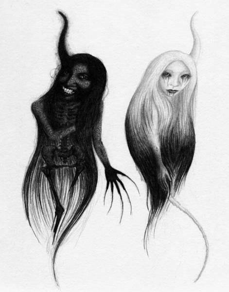 Drawing - Spirits Of The Twin Sisters - Artwork by Ryan Nieves