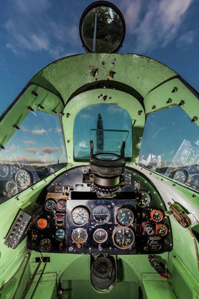 Wall Art - Photograph - Spitfire Cockpit by Maggie McCall