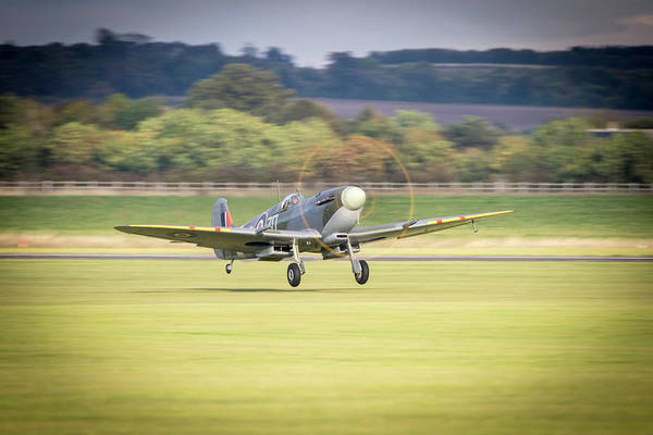 Wall Art - Photograph - Spitfire Mh434 Takes Off by J Biggadike